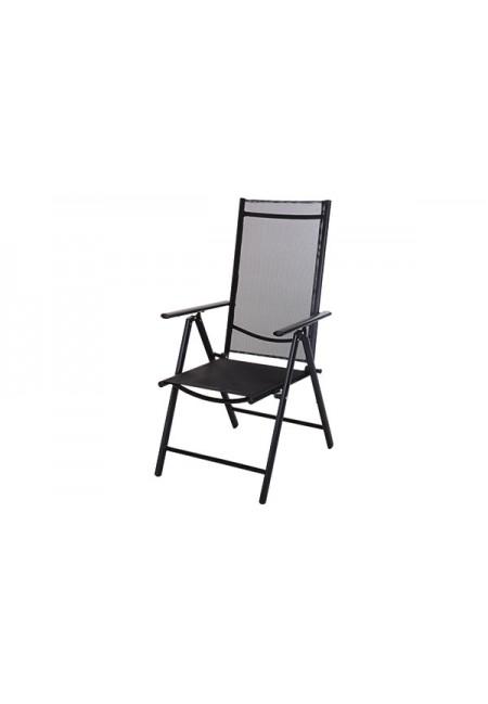 Silla aluminio 7 posiciones negra