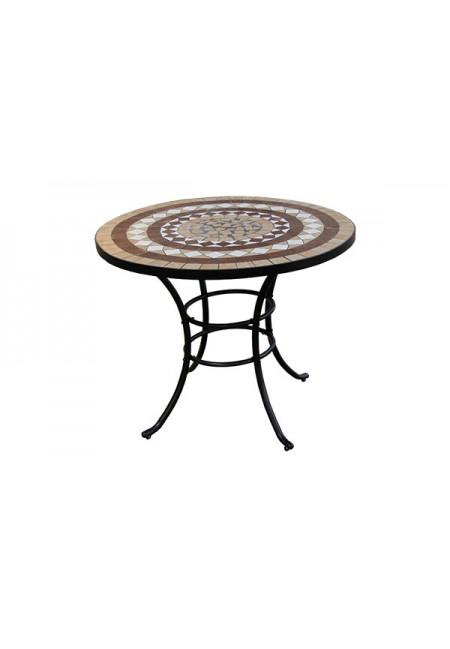 Alhambra: mesa redonda cerámica 92x74cm