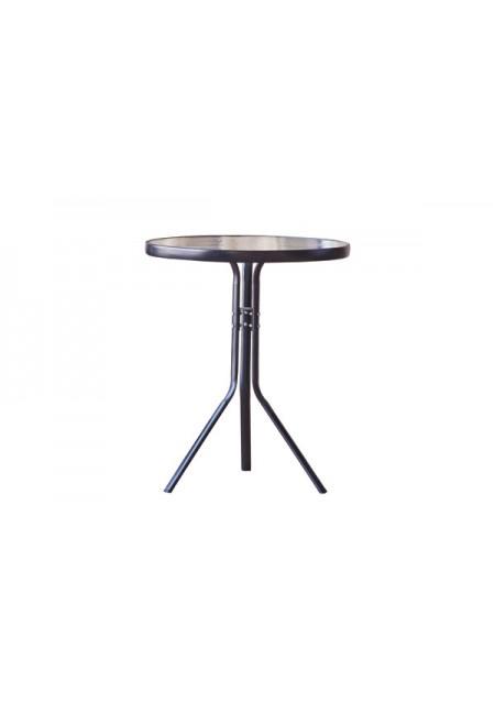Panama: mesa redonda acero 60x70cm
