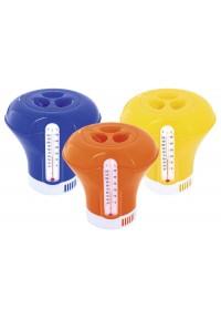 Dosificador cloro piscina contiene termómetro