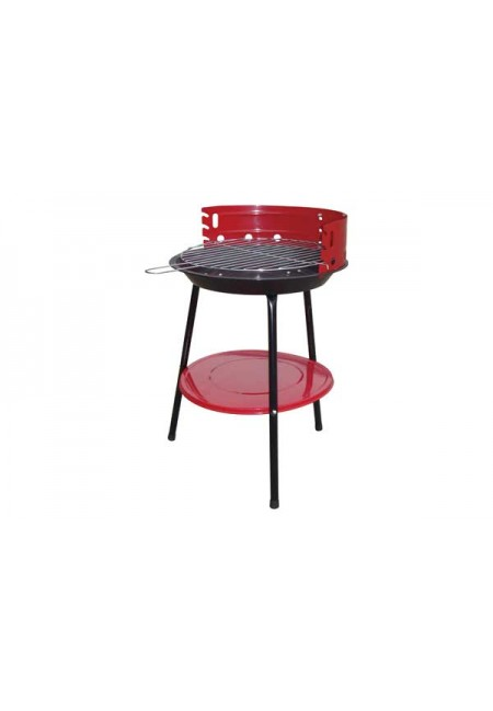 Barbacoa carbon popular 36cm 46h red