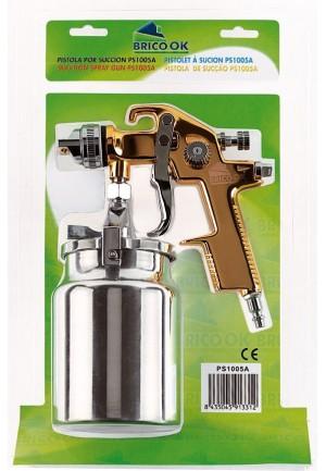 Brico Ok Pistola de pintura PS-1005-A por succión